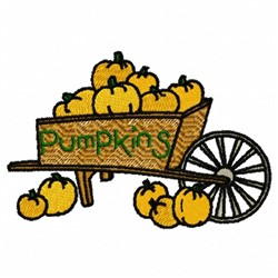Pumpkin Cart embroidery design