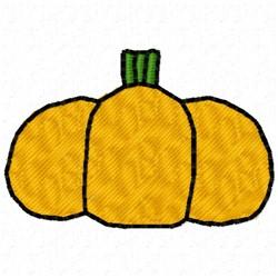 Short Pumpkin embroidery design