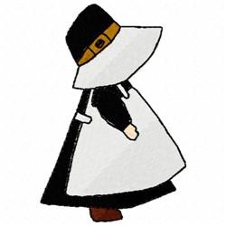 Thanksgiving Pilgrim embroidery design