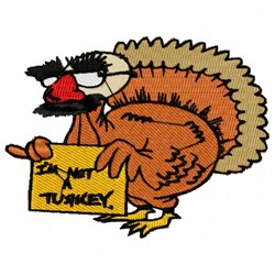 Turkey Disguise embroidery design