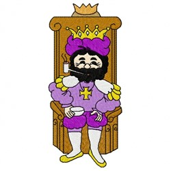 Ole King Cole embroidery design