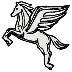 Pegasus Horse embroidery design