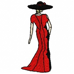 Formal Lady embroidery design