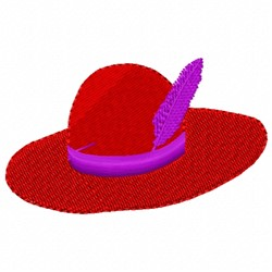 Feather Hat embroidery design
