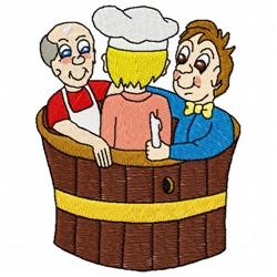 Three Men In A Tub embroidery design