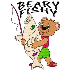 Beary Fishy embroidery design