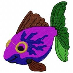 Marine Fish embroidery design