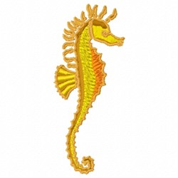 Fancy Seahorse embroidery design