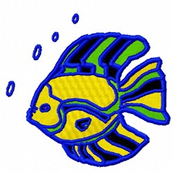 Fancy Marine Fish embroidery design