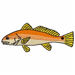 Redfish embroidery design