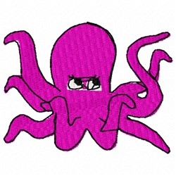 Octopus Animal embroidery design