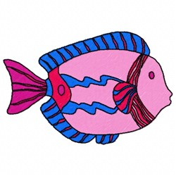 Saltwater Fish embroidery design