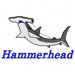 Hammerhead Shark embroidery design
