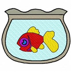 Pet Fish embroidery design