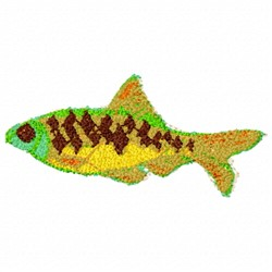 Scale Fish embroidery design