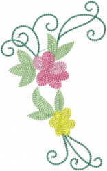 Rose Vine Swirls embroidery design