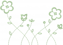 Wildflower Outline embroidery design