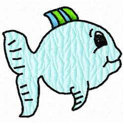 Smiling Fish embroidery design