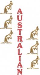 Australian Kangaroo Outline embroidery design