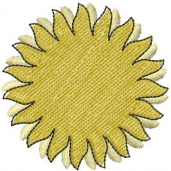 Sun 3D embroidery design