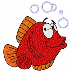 Fish Cartoon embroidery design