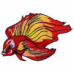 Flare Fish embroidery design