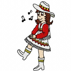 Clog Dancer embroidery design
