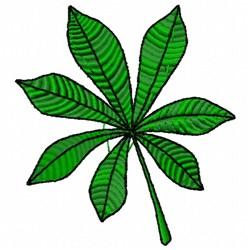 Chestnut Leaf embroidery design