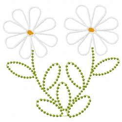 Daisies Outline embroidery design