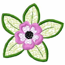 Anemone Leaves embroidery design