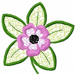 Anemone Stems embroidery design