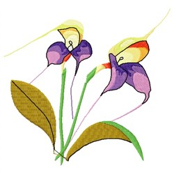 Orchid Flowers embroidery design
