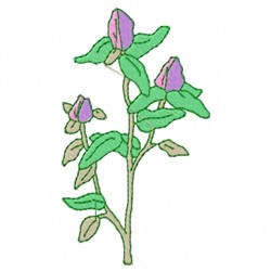 Flower Stems embroidery design