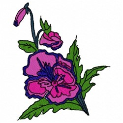 Pansy Flower embroidery design