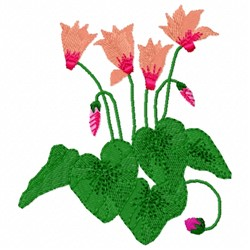 Cyclamen Flower embroidery design