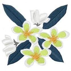 Frangipani Flower embroidery design
