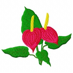 Floral Plant embroidery design
