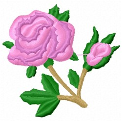 Rose Stem embroidery design