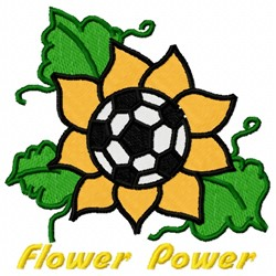 Soccer Flower embroidery design