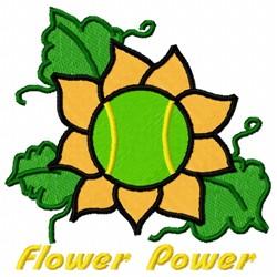 Tennis Flower embroidery design