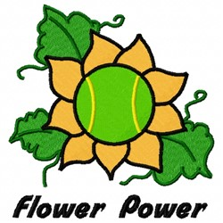 Tennis Power embroidery design
