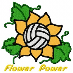 Volleyball Flower embroidery design