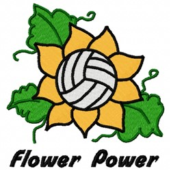 Volleyball Power embroidery design