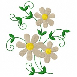 Daisy Vine embroidery design