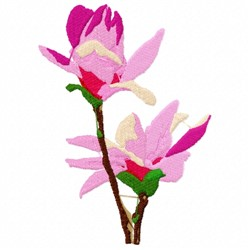 Orchids embroidery design
