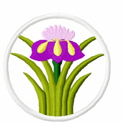 Easter Iris embroidery design