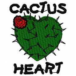 Cactus Heart embroidery design