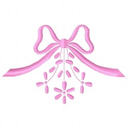 Floral Bow embroidery design