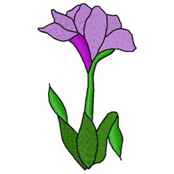 Iris embroidery design