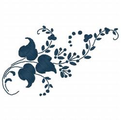 Ivy Swirls embroidery design